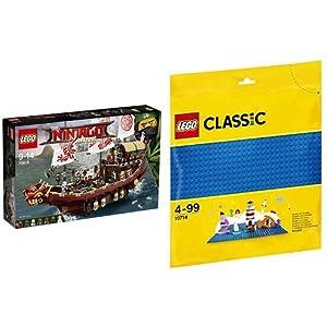 レゴ(LEGO)ニンジャゴー 空中戦艦バウンティ号 70618 & クラシック 基礎板(ブルー) 10714