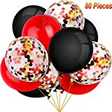 80ピース 海賊パーティーバルーンセット 紙吹雪バルーン ラテックスバルーン パーティーデコレーション用 12インチ マルチカラー Tatuo-Party Balloons-01