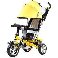 乳母車 子供の三輪車のカートベビーキャリッジ 使いやすい (色 : イエロー いえろ゜)