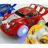 Kid Toysクリスマス自動ステアリング点滅音楽レース車電動おもちゃ車