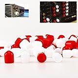 Melleco 200pcs RCA Female Connector Socket Jack Plug Protector Cap Cover for DVD Amplifier AV RV Receiver Dust Proof
