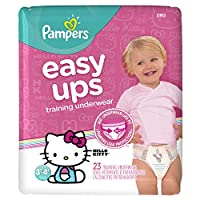 Pampers Easy Ups Training Girls Underwear, Size 5, 23 Count by Pampers