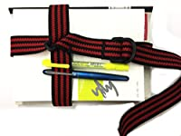 森製紐 オリジナル ブックバンド テキストブックロック 3cm幅 金属不使用 (黒x赤3本線)