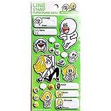 LINE STAMP (ラインスタンプ) ぷくぷくシール / MOON & JAMES