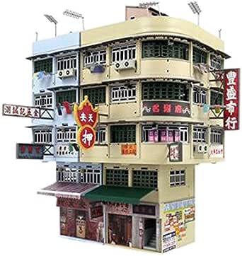 TINY Bd11 香港旧市街 ジオラマビルセット 完成品