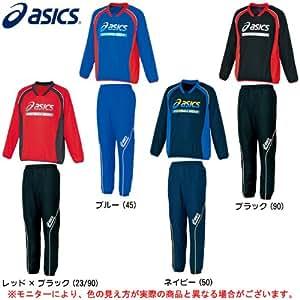 ASICS(アシックス) Jr ピステ 上下セット XSJ01K/XSJ51K ピステシャツ パンツ ジュニア キッズ (ブルー(45), 150)