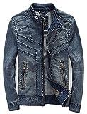 メンズ デニムジャケット (ラクエスト) Laquest メンズ Gジャン デニムジャケット フード付き ライダース (XL)