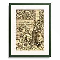 ルーカス・クラナッハ(父) Lucas Cranach der Altere 「The Beheading of John the Baptist」 額装アート作品
