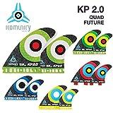 komunity フィン KP2.0 HONEY COMB-QUAD FUTURE レッド
