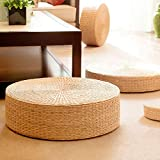 tonchean Straw Cushion Handcrafted Japanese Style Tatami Yoga Flat Seat Cushion Eco-Friendly and Breathable Straw Floor Pillo