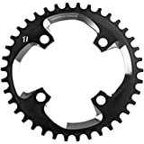 Truvativ Chainring DH 36T 4 Bolt 104 mm BCD X0DH Aluminium Blast Black 1 x 10, 11.6215.188.390 by Sram MTB