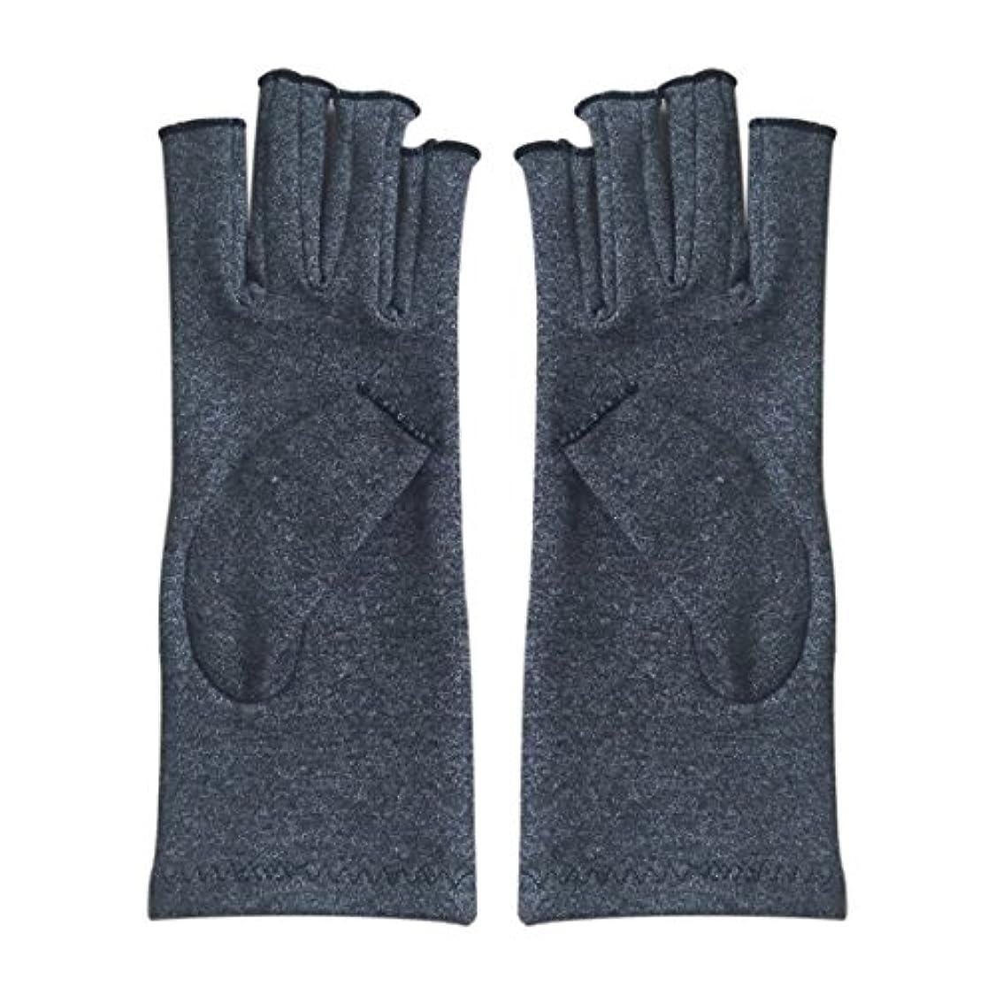 アーカイブコンクリート名声ACAMPTAR 1ペア成人男性女性用弾性コットンコンプレッション手袋手関節炎関節痛鎮痛軽減M - 灰色、M