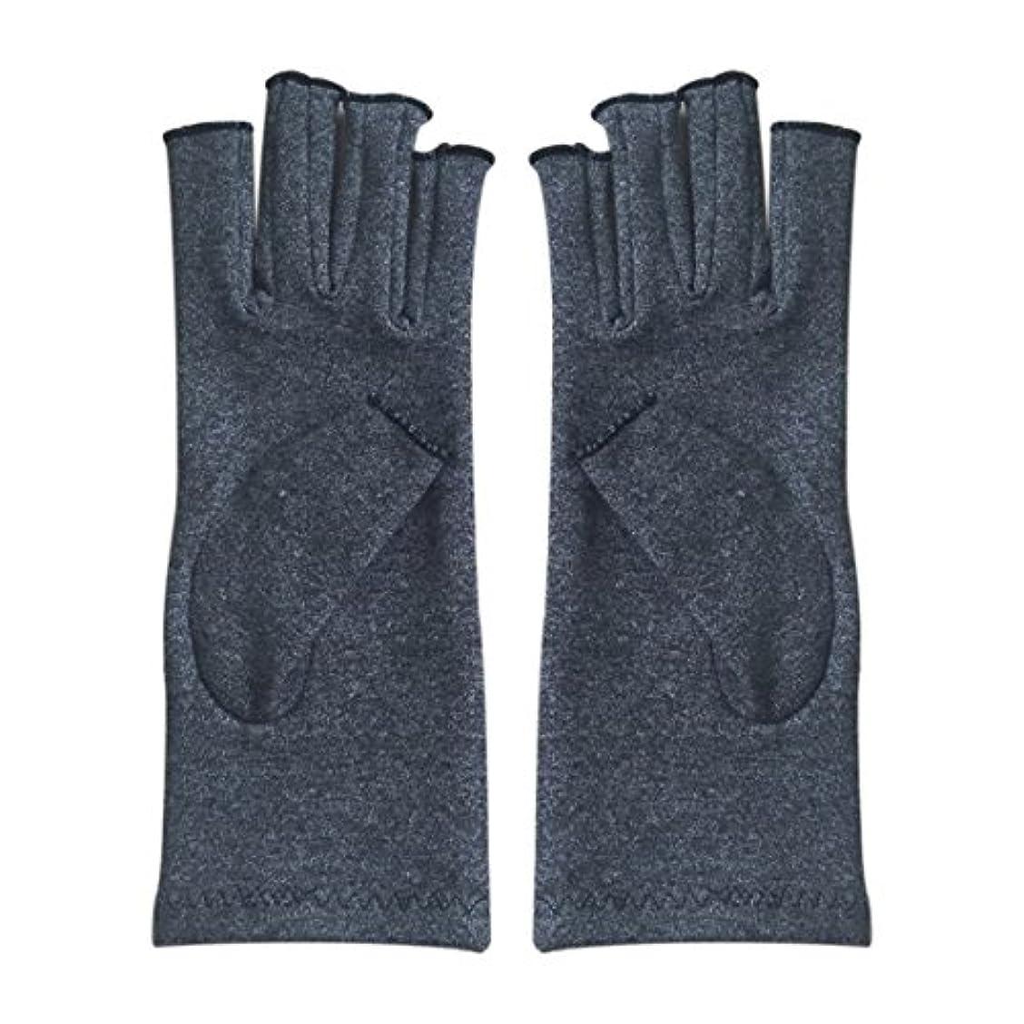 グリーンバックメタルラインなんとなくACAMPTAR 1ペア成人男性女性用弾性コットンコンプレッション手袋手関節炎関節痛鎮痛軽減M - 灰色、M