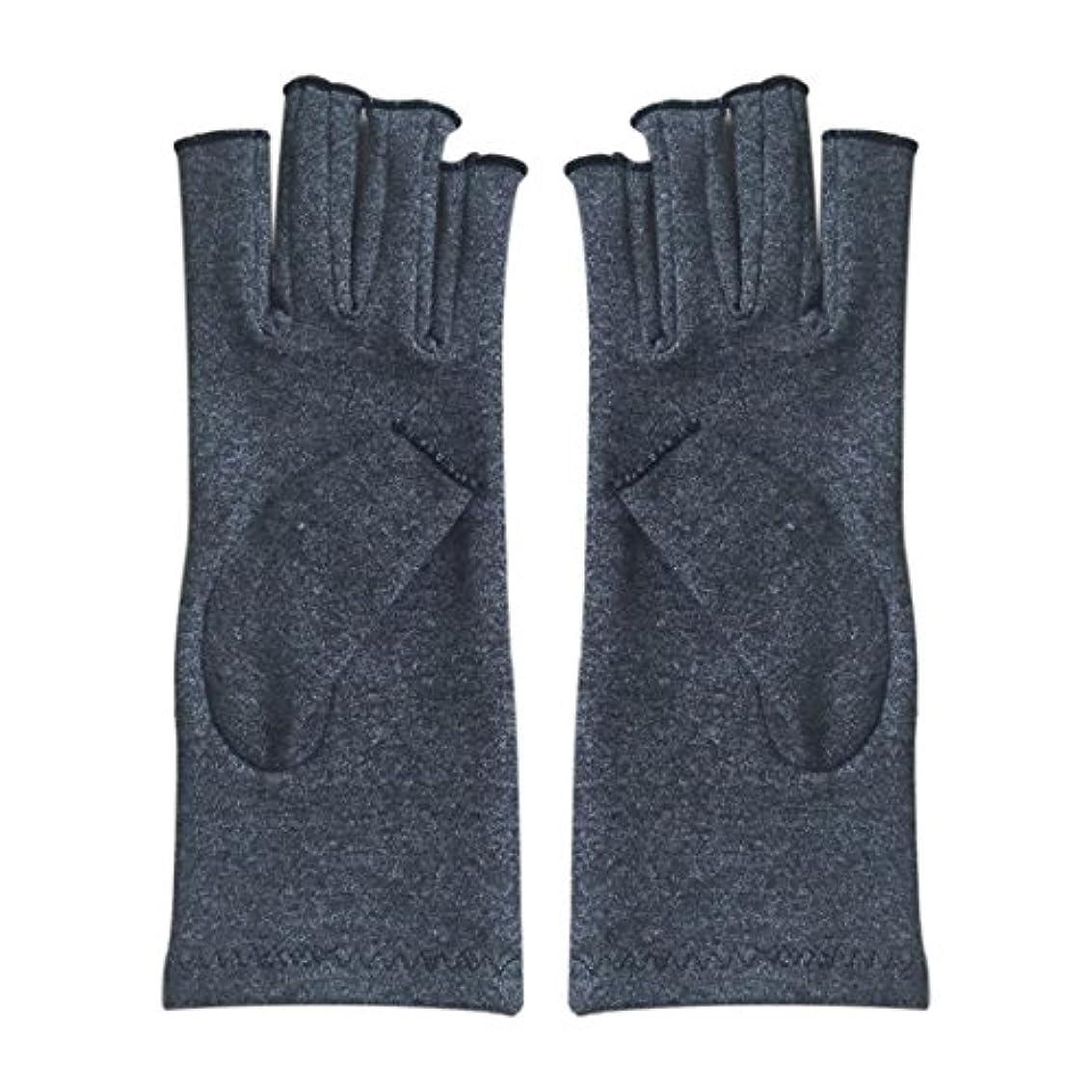 除外する贅沢凝視CUHAWUDBA 1ペア成人男性女性用弾性コットンコンプレッション手袋手関節炎関節痛鎮痛軽減S -灰色、S
