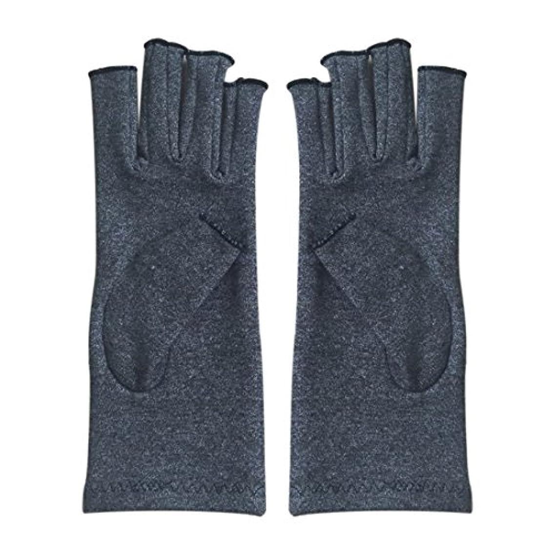 倫理チャーム建築CUHAWUDBA 1ペア成人男性女性用弾性コットンコンプレッション手袋手関節炎関節痛鎮痛軽減S -灰色、S