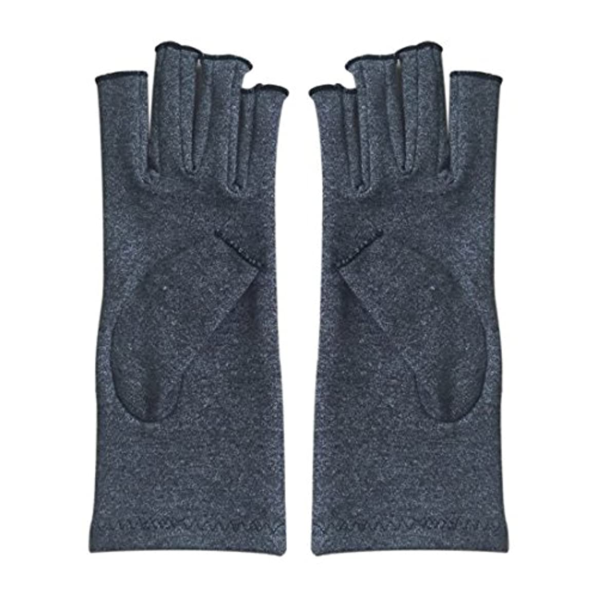 SODIAL 1ペア成人男性女性用弾性コットンコンプレッション手袋手関節炎関節痛鎮痛軽減S -灰色、S