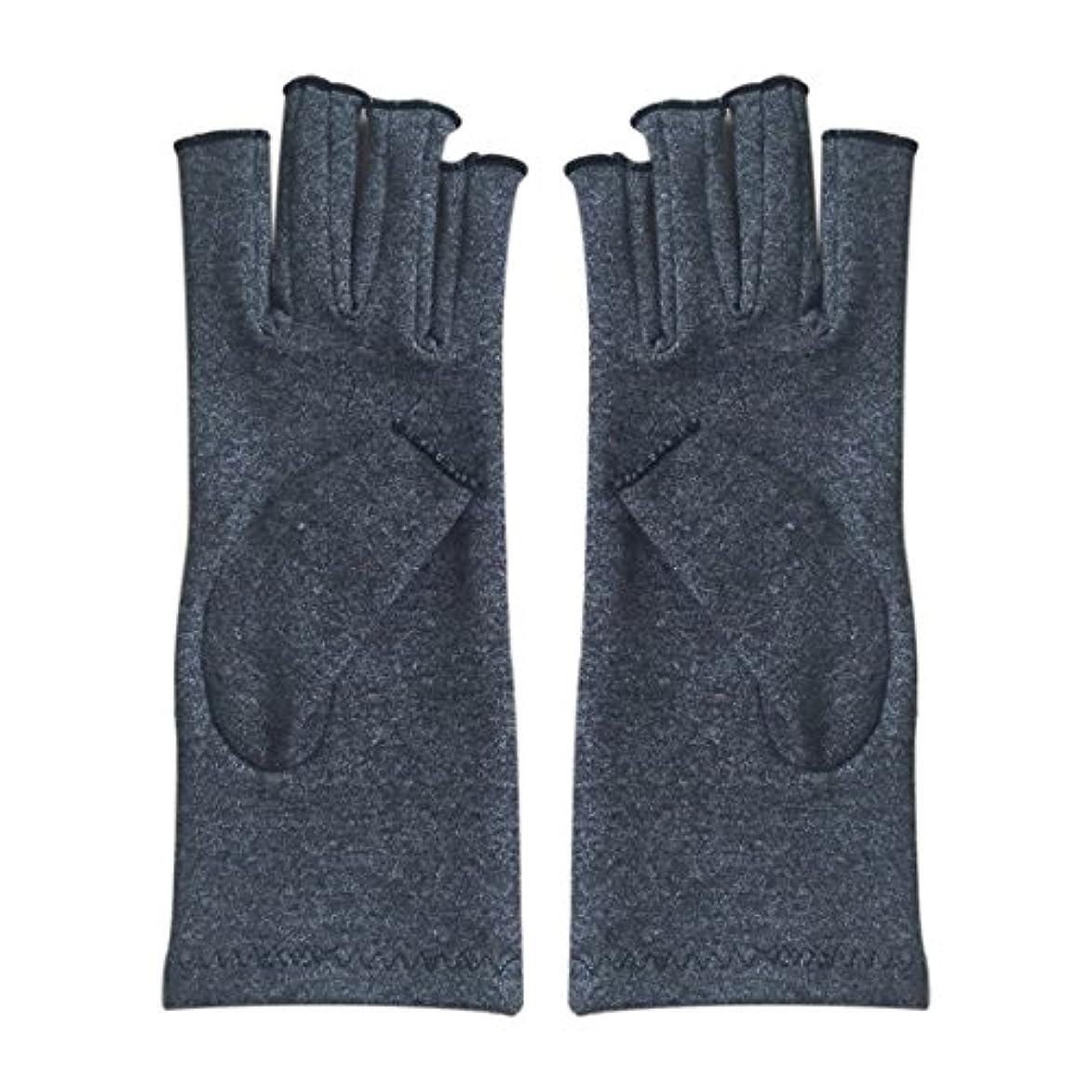 図放送アパートCUHAWUDBA 1ペア成人男性女性用弾性コットンコンプレッション手袋手関節炎関節痛鎮痛軽減M - 灰色、M