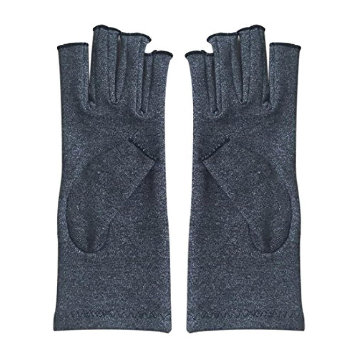 モードリンボクシング海CUHAWUDBA 1ペア成人男性女性用弾性コットンコンプレッション手袋手関節炎関節痛鎮痛軽減M - 灰色、M