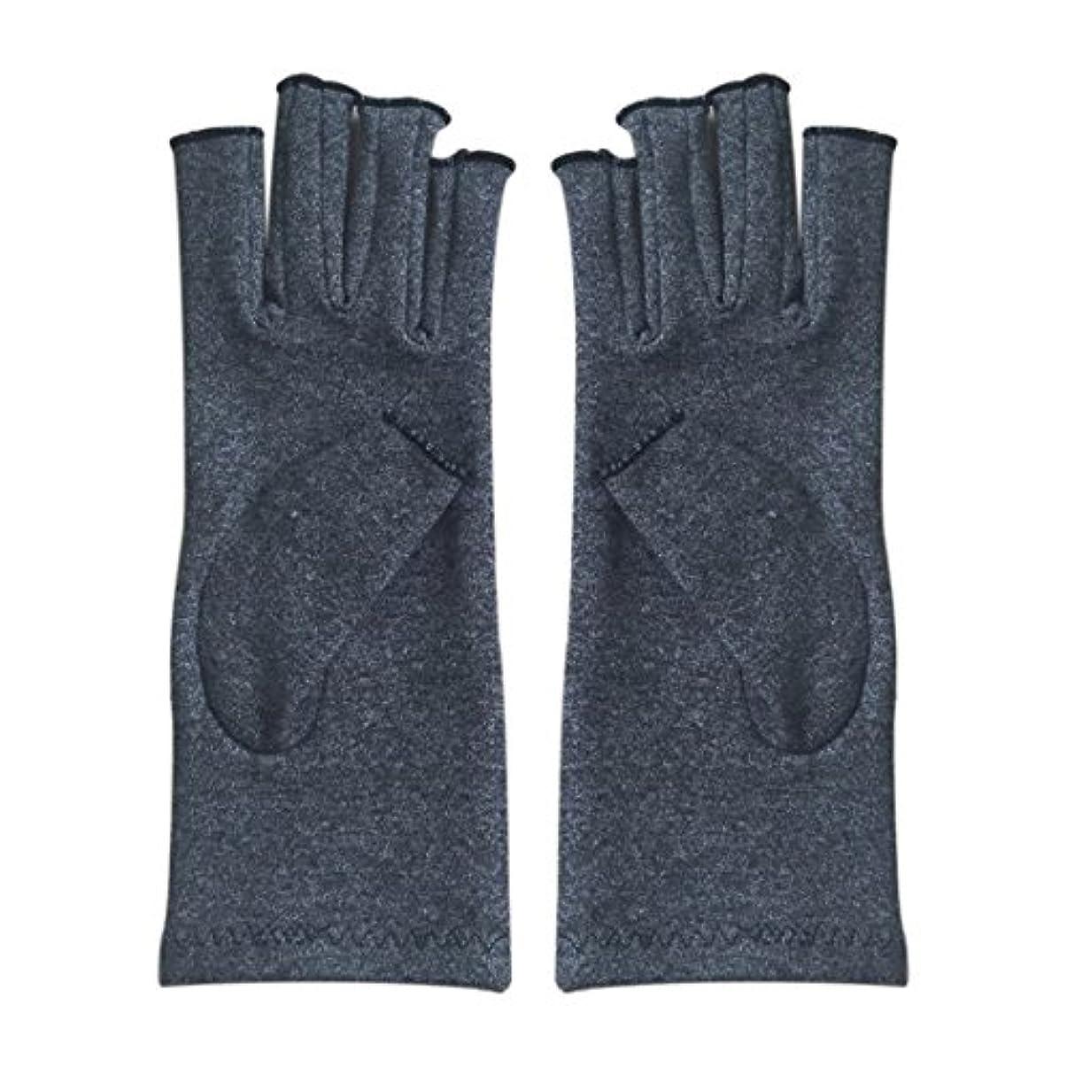 起こる水平チョークCikuso 1ペア成人男性女性用弾性コットンコンプレッション手袋手関節炎関節痛鎮痛軽減S -灰色、S