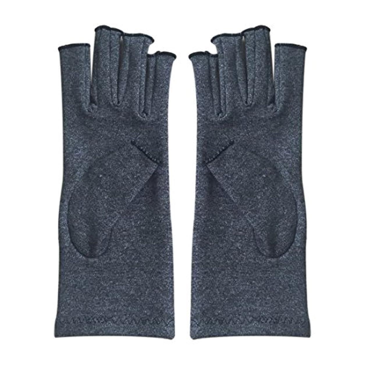 分注する社会主義者デイジーWOVELOT 1ペア成人男性女性用弾性コットンコンプレッション手袋手関節炎関節痛鎮痛軽減S -灰色、S