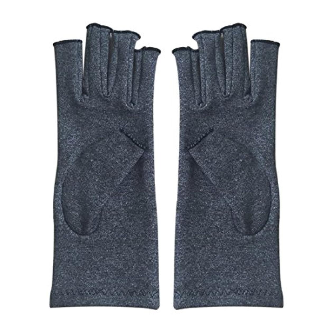 寺院浜辺トリムACAMPTAR 1ペア成人男性女性用弾性コットンコンプレッション手袋手関節炎関節痛鎮痛軽減M - 灰色、M