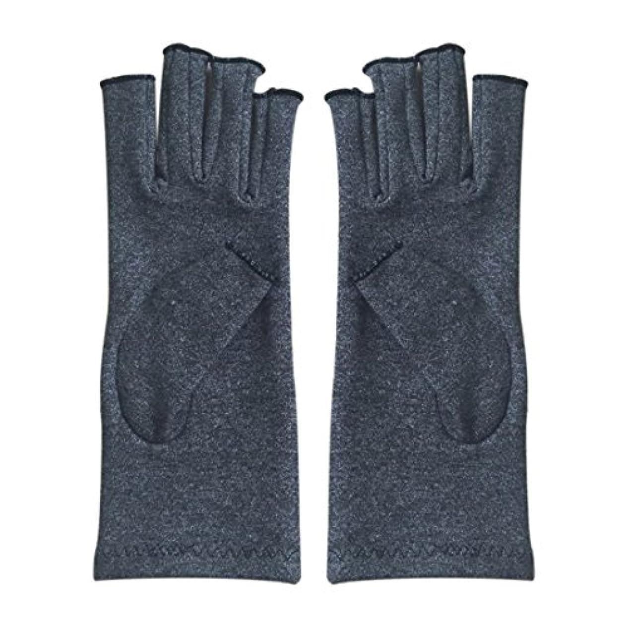 雨ジャンピングジャックCUHAWUDBA 1ペア成人男性女性用弾性コットンコンプレッション手袋手関節炎関節痛鎮痛軽減M - 灰色、M