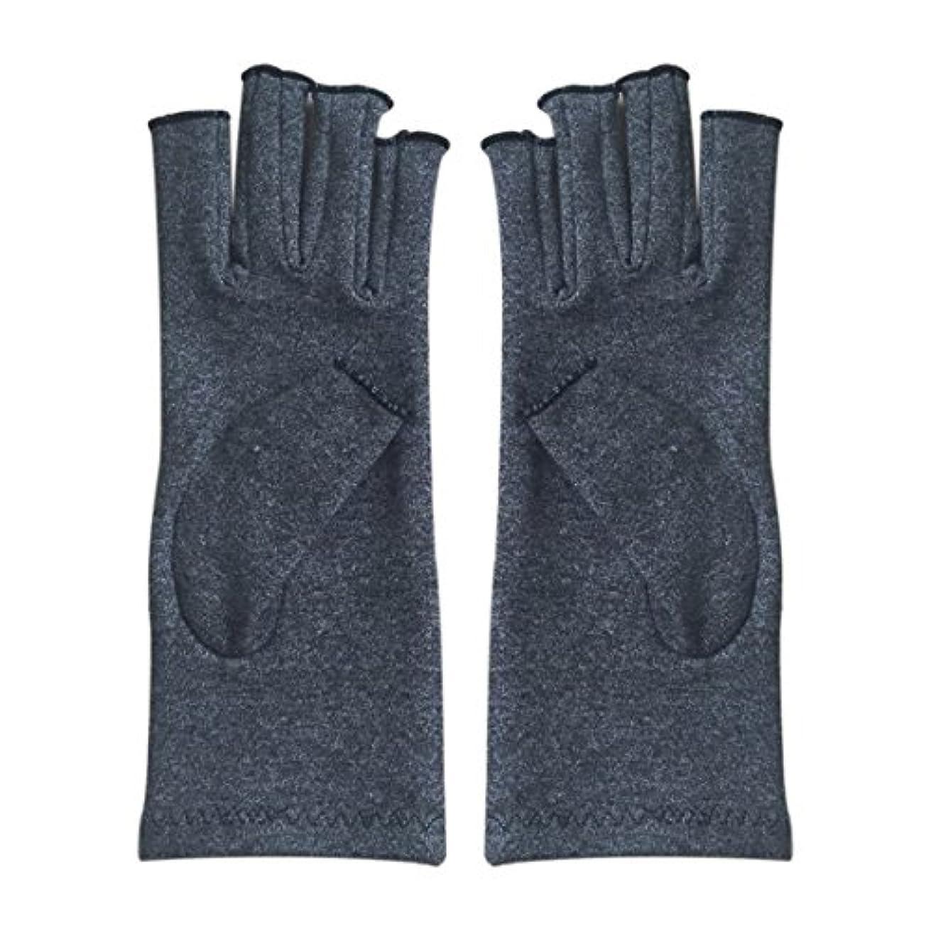 乗ってスパン竜巻ACAMPTAR 1ペア成人男性女性用弾性コットンコンプレッション手袋手関節炎関節痛鎮痛軽減S -灰色、S