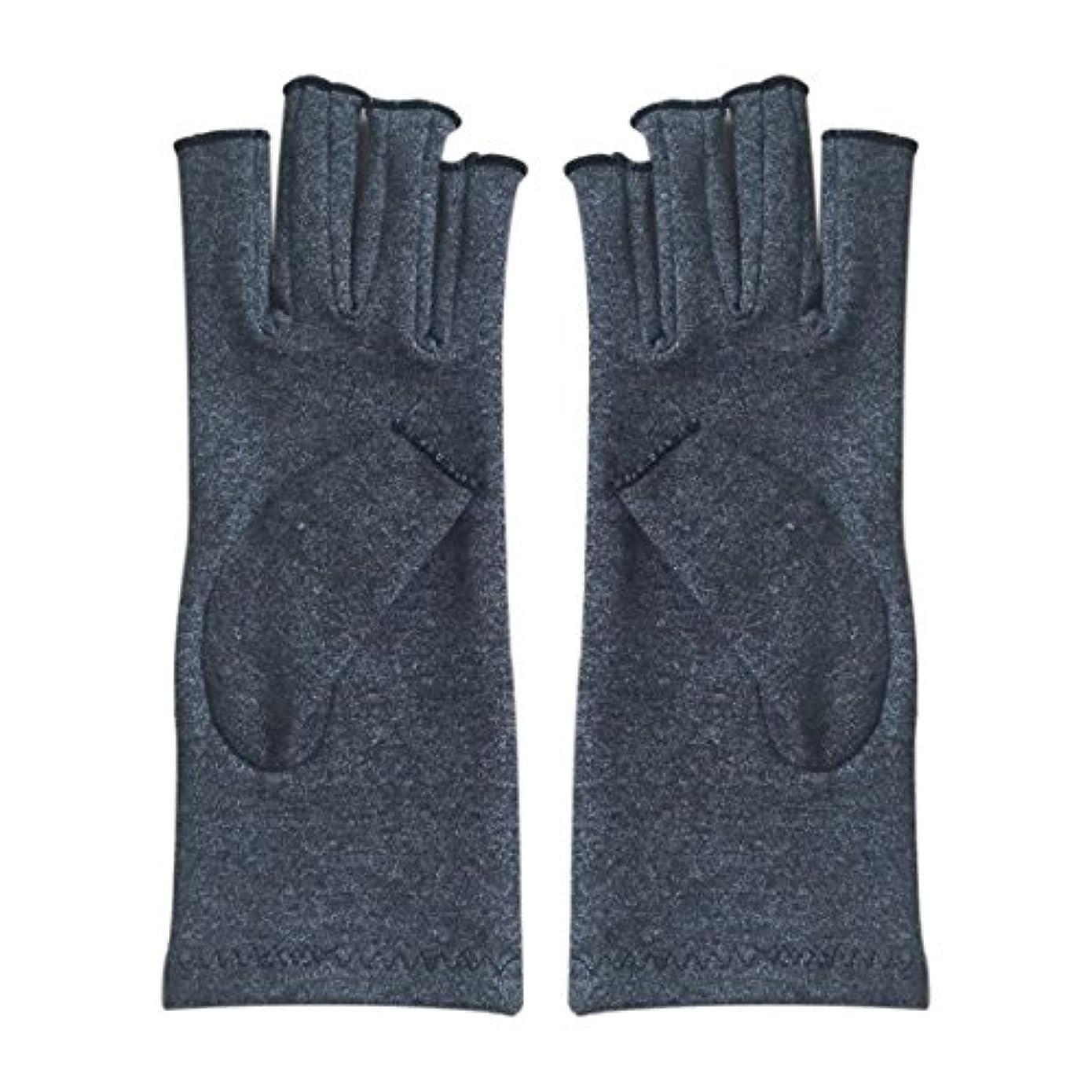 マラソン鋸歯状ゴミSODIAL 1ペア成人男性女性用弾性コットンコンプレッション手袋手関節炎関節痛鎮痛軽減M - 灰色、M