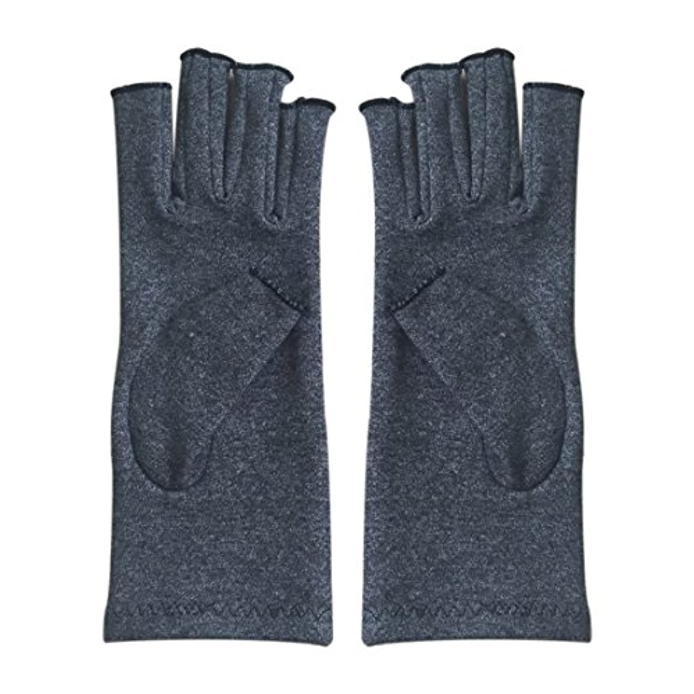 想起レイプ優れましたCUHAWUDBA 1ペア成人男性女性用弾性コットンコンプレッション手袋手関節炎関節痛鎮痛軽減S -灰色、S