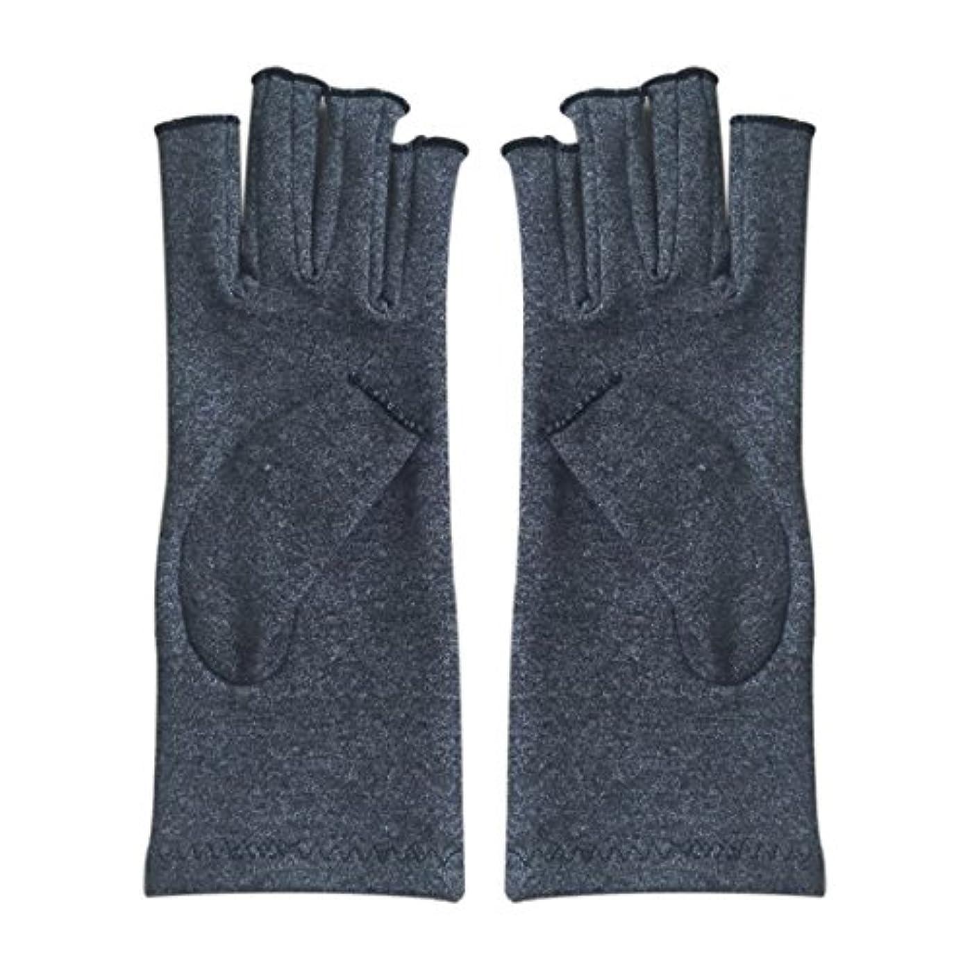 建築手術衝動Gaoominy 1ペア成人男性女性用弾性コットンコンプレッション手袋手関節炎関節痛鎮痛軽減M - 灰色、M
