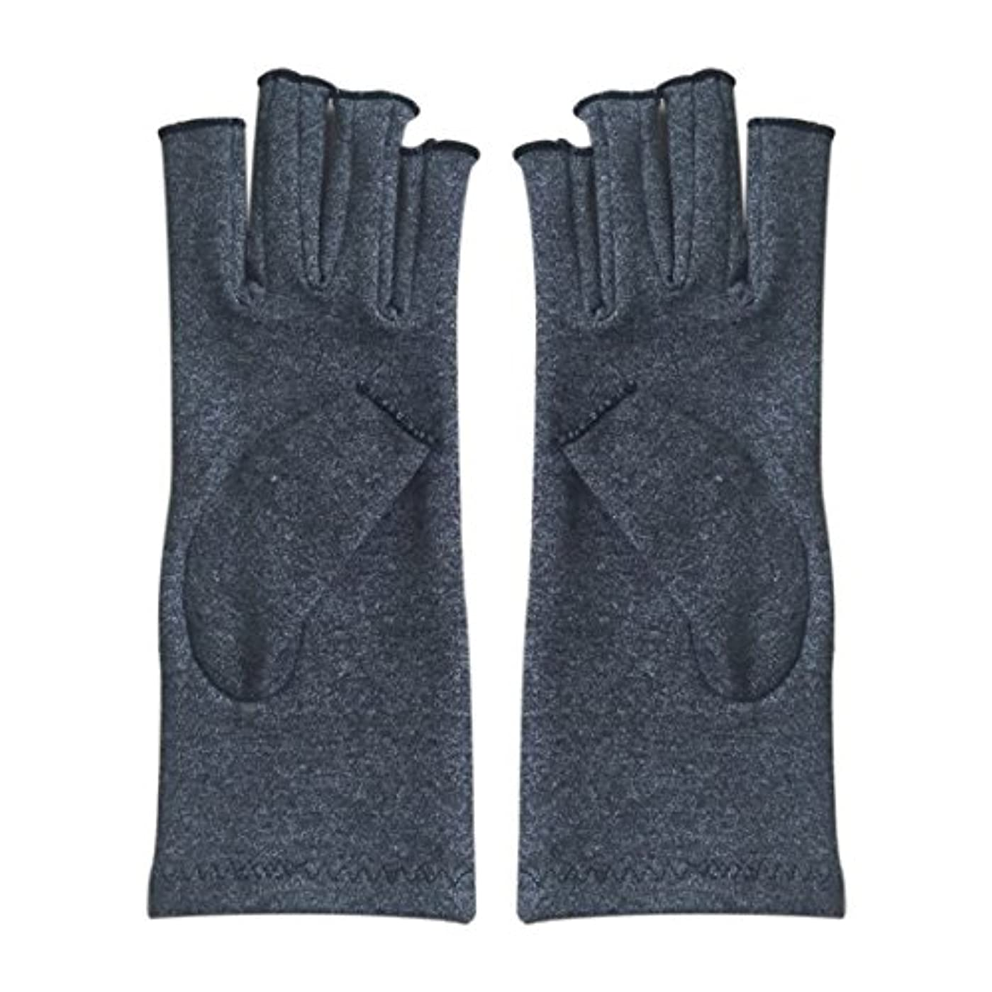 日曜日代わりのエジプト人ACAMPTAR 1ペア成人男性女性用弾性コットンコンプレッション手袋手関節炎関節痛鎮痛軽減S -灰色、S