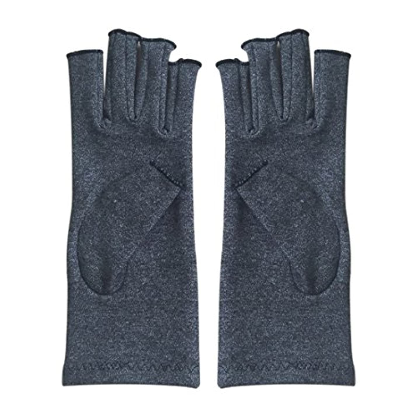 スペイン語惨めな理解ACAMPTAR 1ペア成人男性女性用弾性コットンコンプレッション手袋手関節炎関節痛鎮痛軽減M - 灰色、M