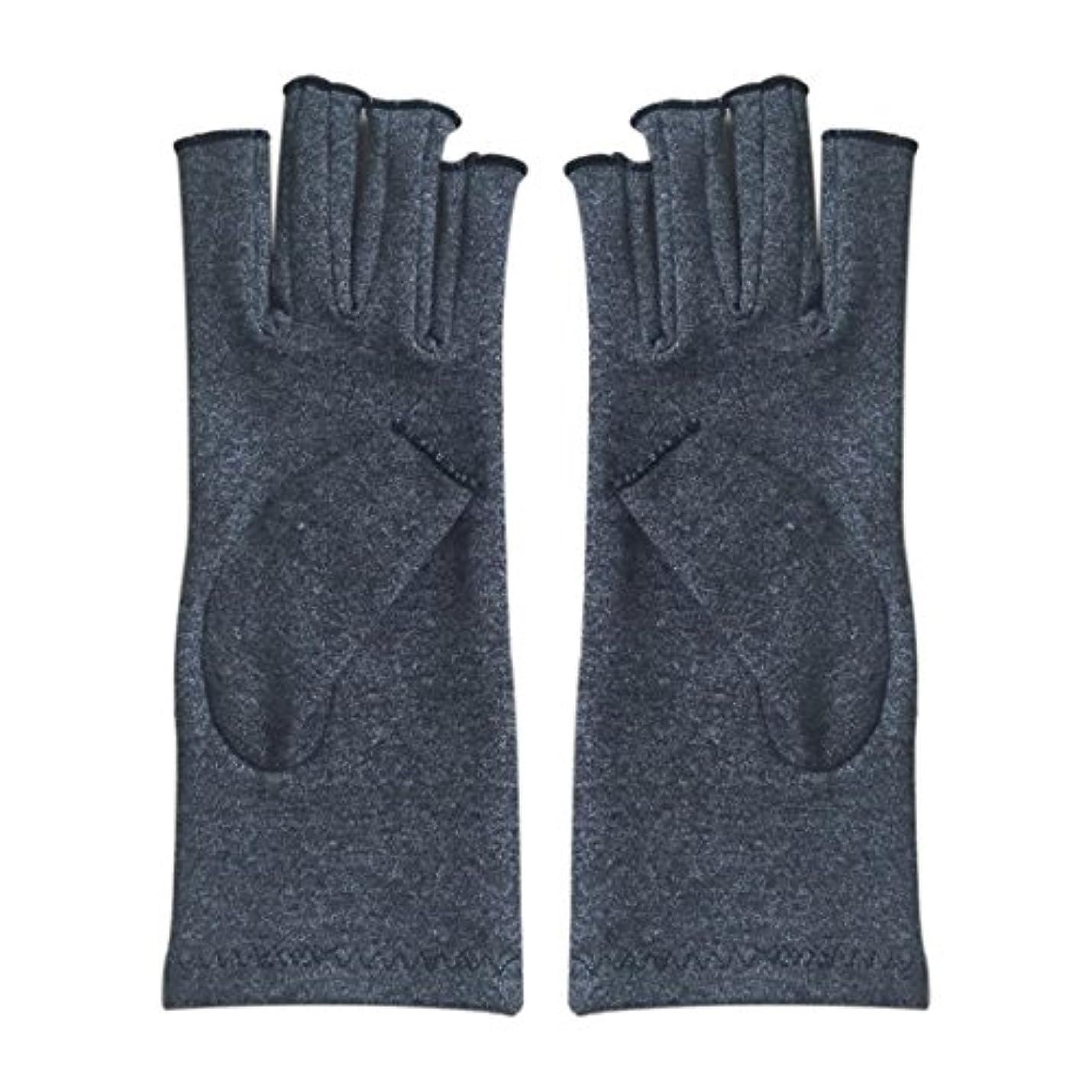 ビルエキス吸収するWOVELOT 1ペア成人男性女性用弾性コットンコンプレッション手袋手関節炎関節痛鎮痛軽減S -灰色、S