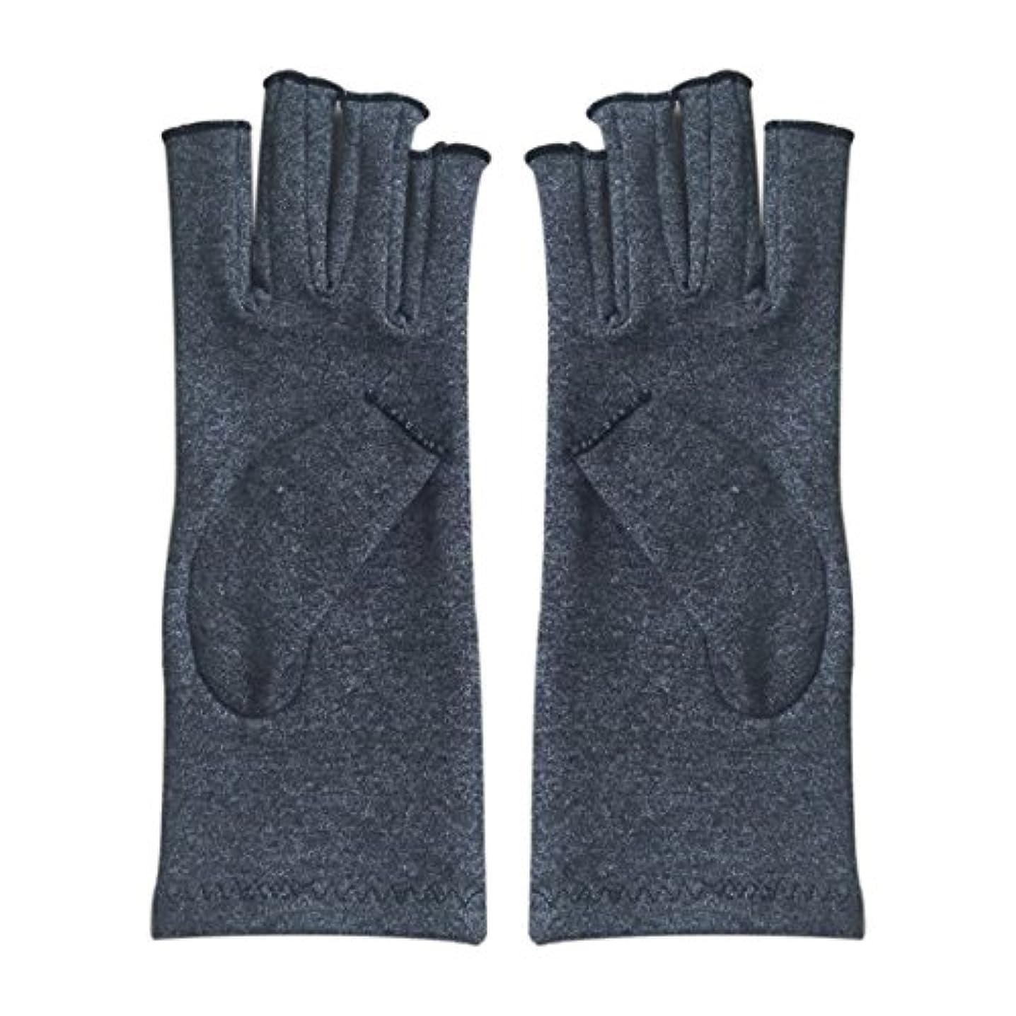 夢中ポスターブッシュCUHAWUDBA 1ペア成人男性女性用弾性コットンコンプレッション手袋手関節炎関節痛鎮痛軽減M - 灰色、M