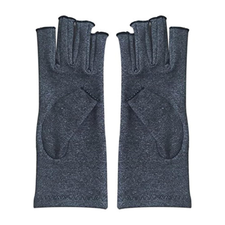 努力する正確に再編成するACAMPTAR 1ペア成人男性女性用弾性コットンコンプレッション手袋手関節炎関節痛鎮痛軽減M - 灰色、M