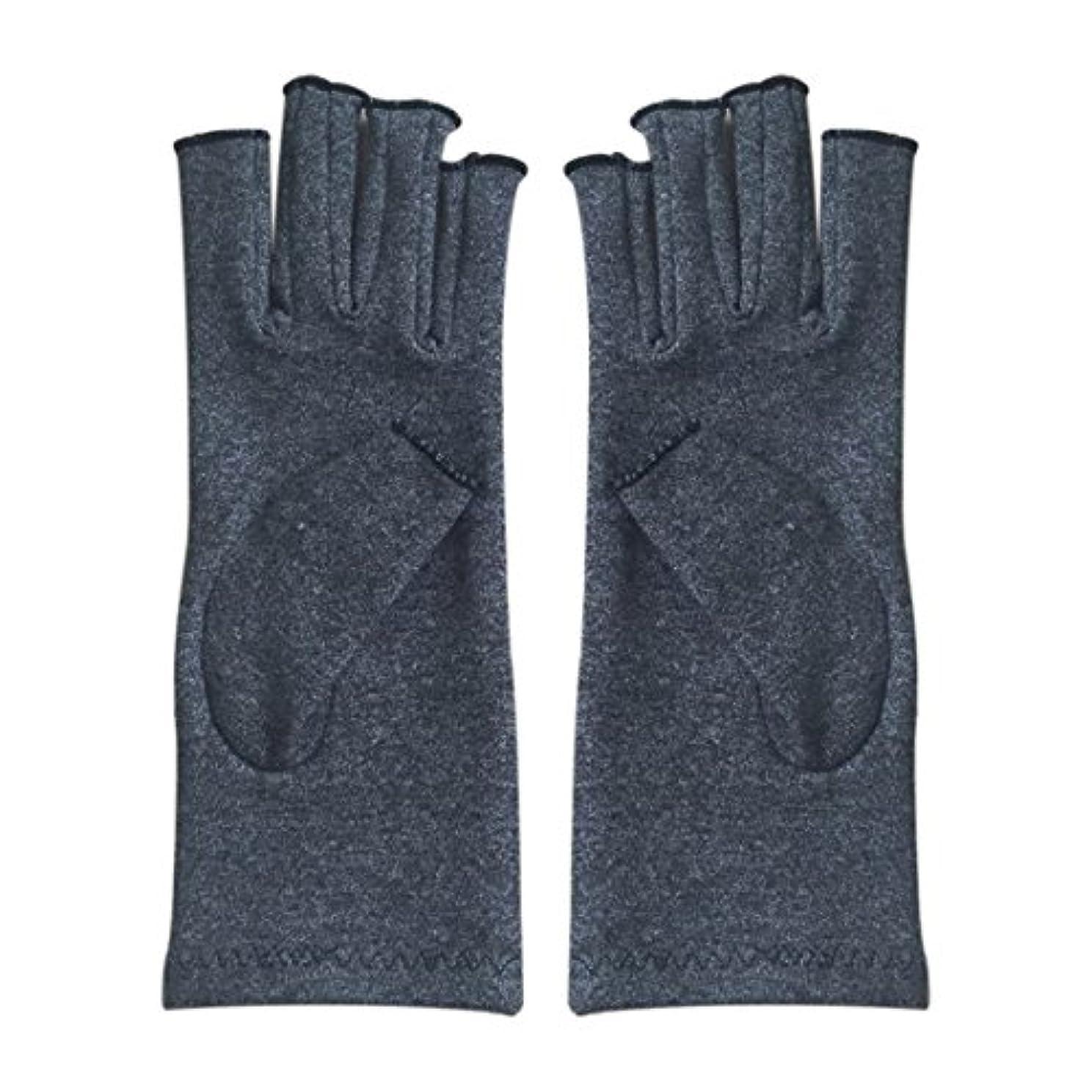 法医学真空イチゴACAMPTAR 1ペア成人男性女性用弾性コットンコンプレッション手袋手関節炎関節痛鎮痛軽減S -灰色、S