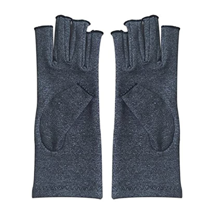 指定立法落胆するGaoominy 1ペア成人男性女性用弾性コットンコンプレッション手袋手関節炎関節痛鎮痛軽減M - 灰色、M