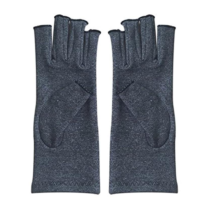 上げるダニガイドラインACAMPTAR 1ペア成人男性女性用弾性コットンコンプレッション手袋手関節炎関節痛鎮痛軽減M - 灰色、M