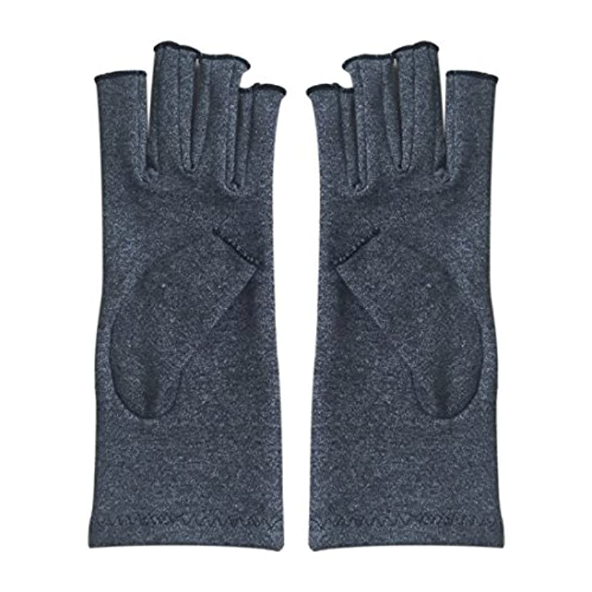 威する中一時解雇するGaoominy 1ペア成人男性女性用弾性コットンコンプレッション手袋手関節炎関節痛鎮痛軽減M - 灰色、M