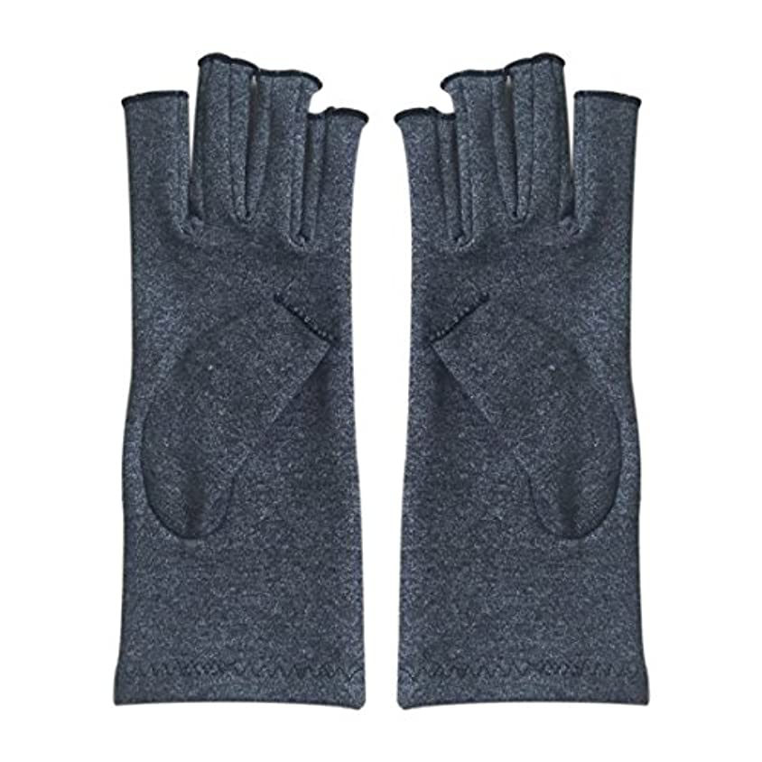 独占定期的に相続人CUHAWUDBA 1ペア成人男性女性用弾性コットンコンプレッション手袋手関節炎関節痛鎮痛軽減S -灰色、S