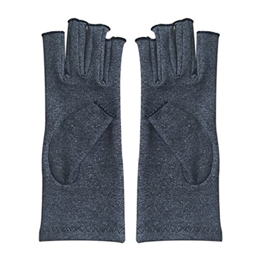 氷亜熱帯アトミックCUHAWUDBA 1ペア成人男性女性用弾性コットンコンプレッション手袋手関節炎関節痛鎮痛軽減S -灰色、S