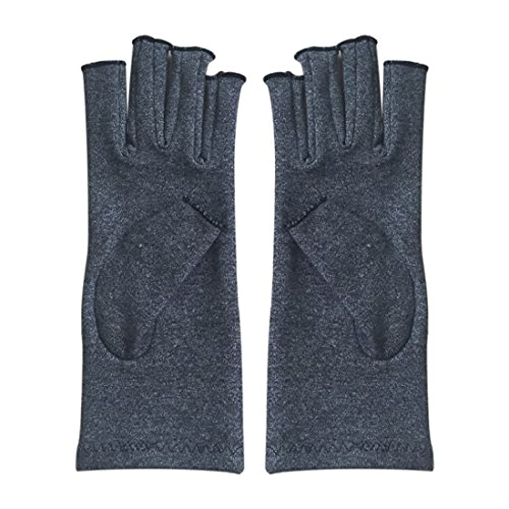 鋼免疫曲CUHAWUDBA 1ペア成人男性女性用弾性コットンコンプレッション手袋手関節炎関節痛鎮痛軽減S -灰色、S