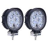 (スタンセン) Stansen LEDワークライト LEDライトバー オフロード 防水作業灯 CREE製27W 24連10-30VDC対応(12V/24V兼用)丸型 2個セット [並行輸入品]