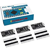 (Pro Micro (B) 3) - KOOKYE 3PCS Black Pro Micro Board ATmega32U4 5V/16MHz Module Board With 2 Row Pin Header for Arduino Leonardo Replace ATmega328 Arduino Pro Mini Black(Pro Micro (B)3)