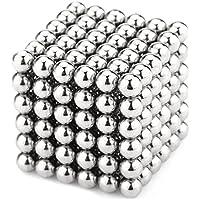 強力磁石の立体パズル!マグネットボール216個セット シルバー (3mm, 银)