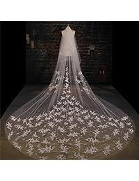 シュウクラブ- 韓国の美容レースレースビッグテーパー糸長い3.5メートルの花嫁のウェディング結婚式のベール