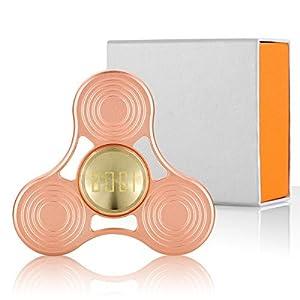 BOGIセラミックスハイブリッドベアリングスピンを使用した銅製ハンドスピナーフィギットおもちゃ大人用と子供用+ギフトボックス(BSラウンド)のADD、ADHD、ストレス、不安、退屈なフォーカス玩具5-7分