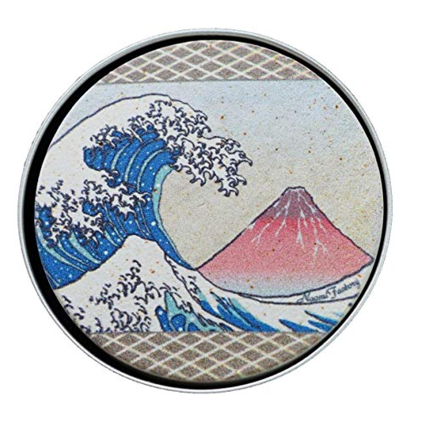 物質原理頑張る【天使のアロマプレート】 浮世絵 浪と赤富士(珪藻土 吸収力抜群 持ち運べる 日本製)
