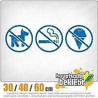 Smoking, food, pets forbidden - 3つのサイズで利用できます 15色 - ネオン+クロム! ステッカービニールオートバイ