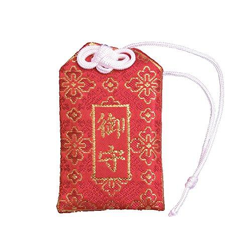 お守り袋 円形用 赤色 縦8cm×横5cm